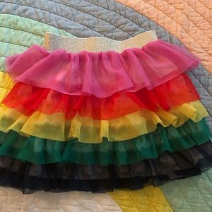 Hanna Andersson rainbow ruffle girls skirt - 6/7